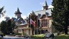 Z luxusního hotelu Kempinski je i luxusní výhled na tatranské štíty.