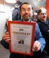 S certifikátem o vytvoření českého rekordu v počtu vydaných knih, který mu v roce 2017 udělila pelhřimovská Agentura Dobrý den.