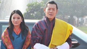 Bhútánský král Džigme a jeho půvabná žena Džetsun
