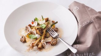 Gnocchi z ricotty s houbovou omáčkou