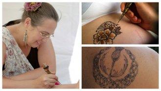 """Helena Pecháčková: """"Malování jaguou doporučuji lidem, kteří si chtějí vyzkoušet, jak by se cítili spravým tetováním."""""""