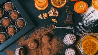 Čokoládové cizrnové kuličky