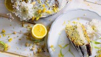 Citronovo-mandlový dort