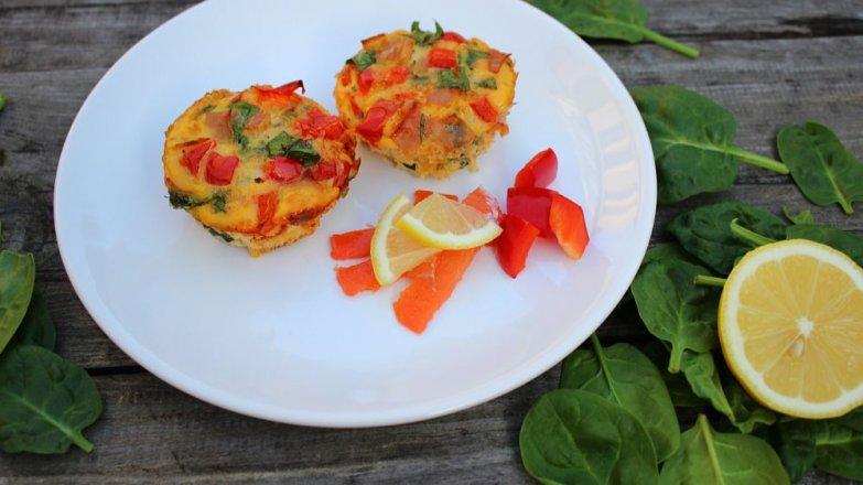 Vajíčkovo-špenátové muffiny