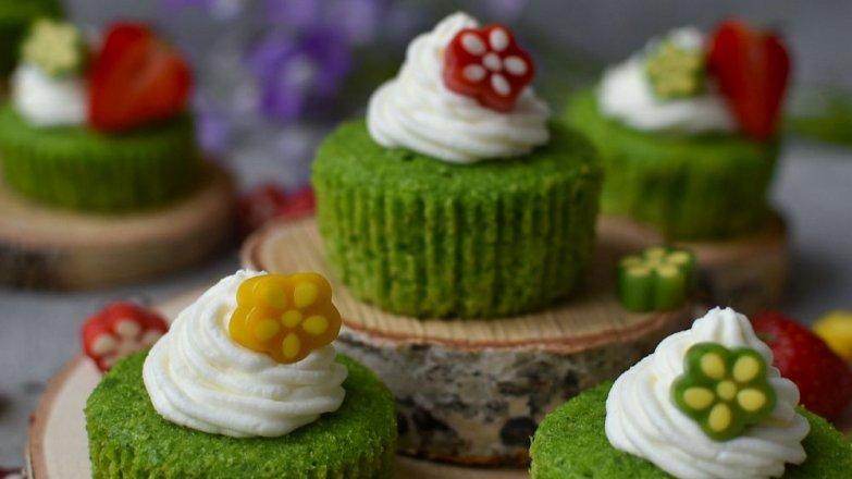 Mechové cupcakes
