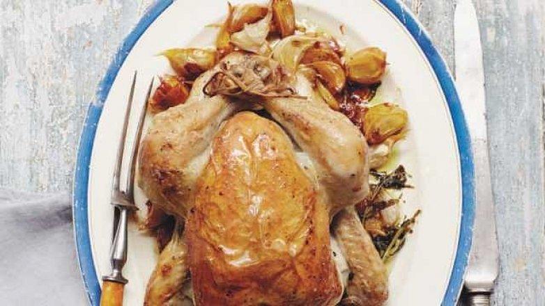 Kuře se čtyřiceti stroužky česneku